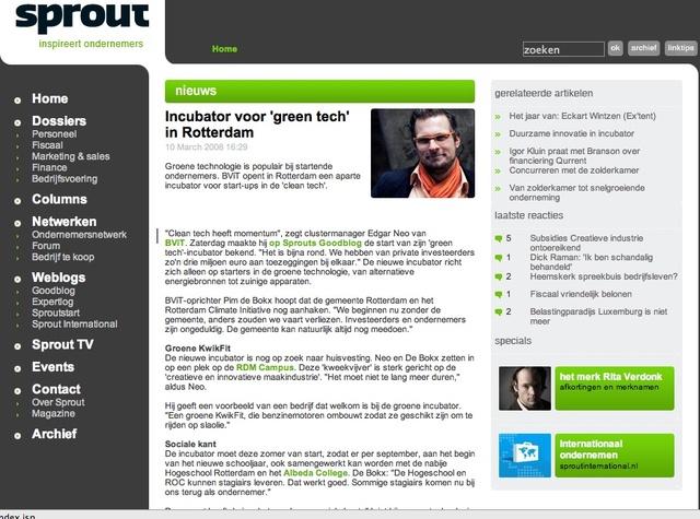 Greentech artikel